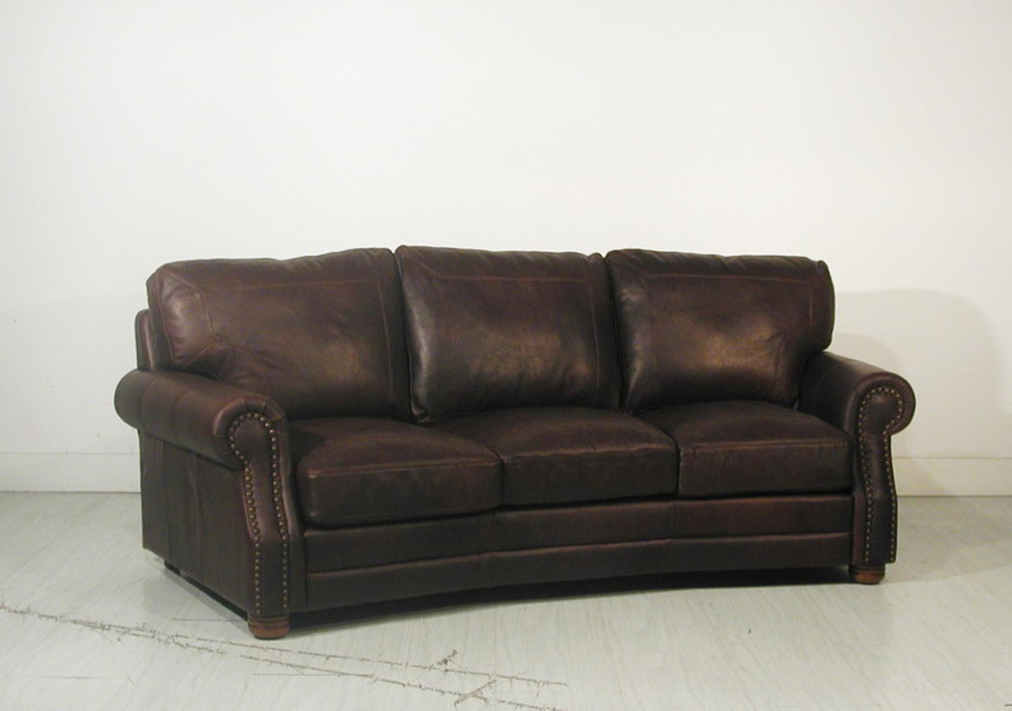 Custom Arm Program Leather Sofa American Heritage Custom