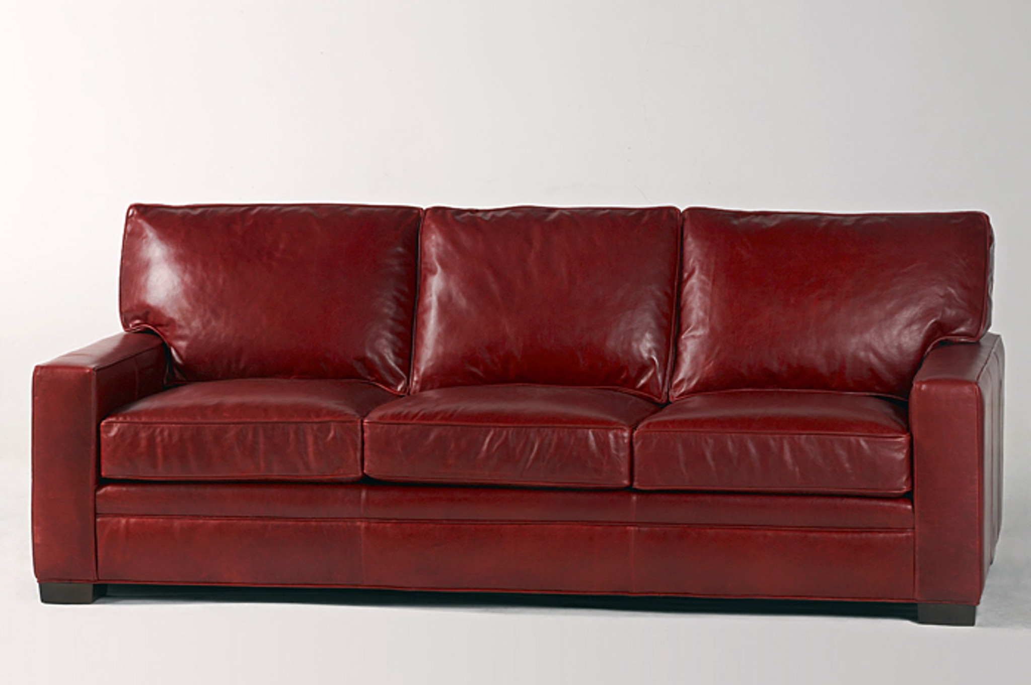 Custom Arm Program Leather Sofa American Heritage Custom
