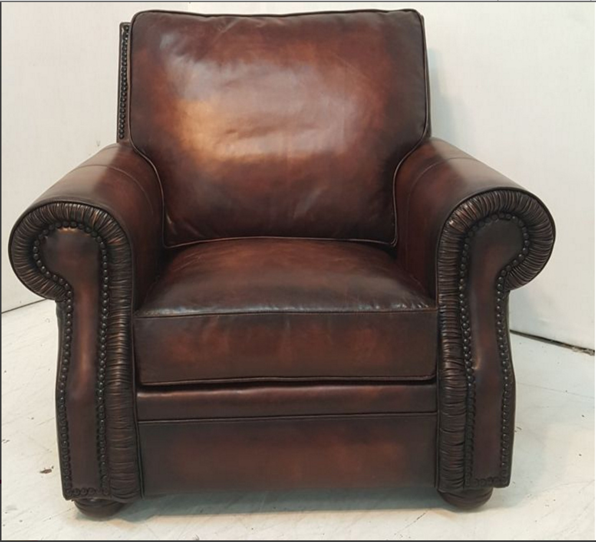 American Heritage Leather Furniture: Stockholm Leather Sofa , American Heritage Custom Leather