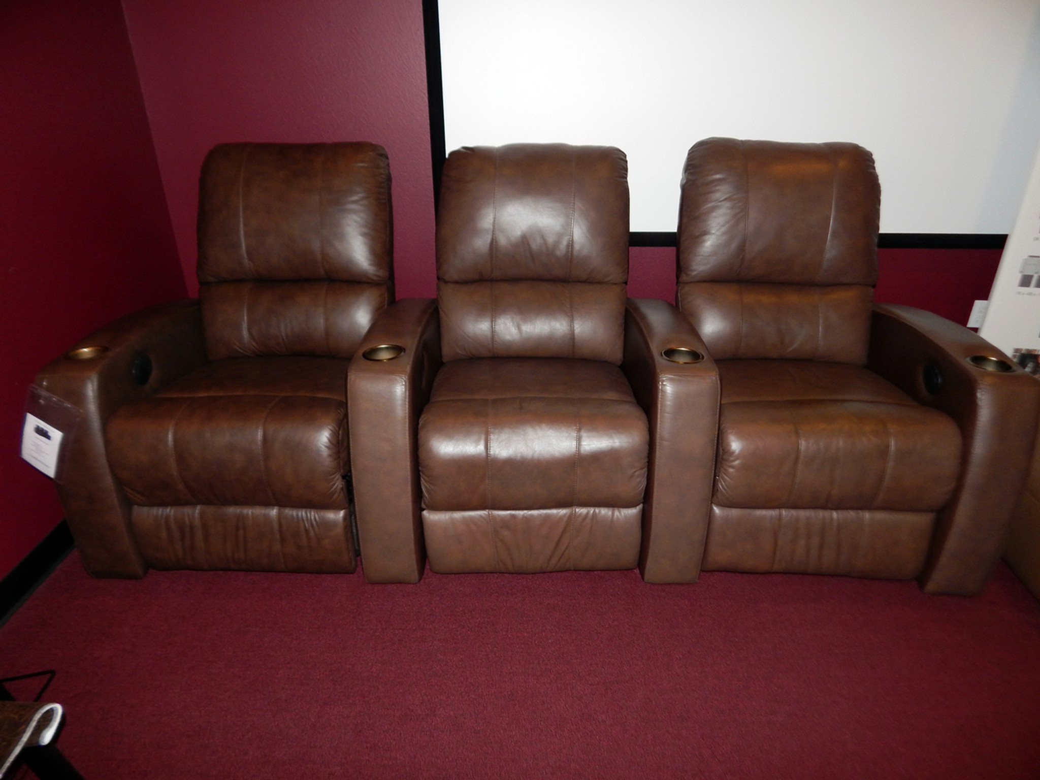 Clearance Sale Home Theater Recliner Pacifico 41920 Row Of 3