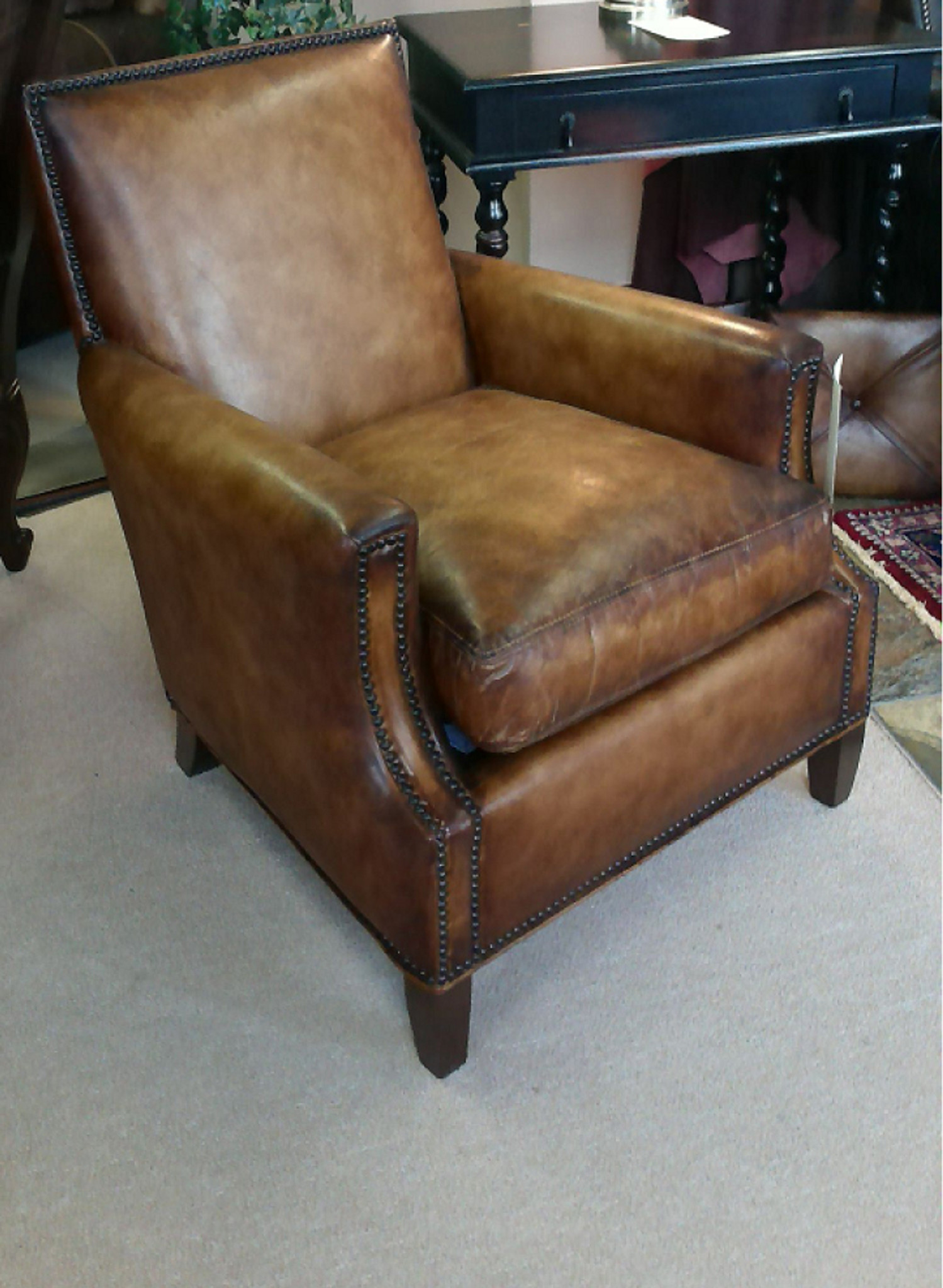 Collins Leather Chair American Heritage Custom Leather