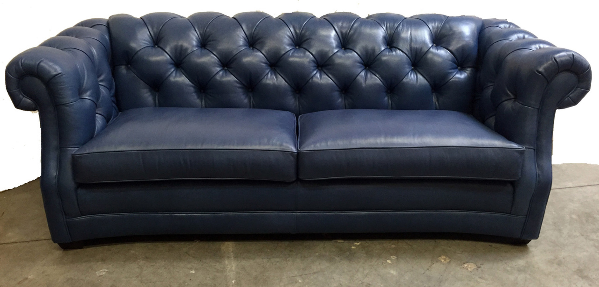 Chesterfield Tufted Leather Sofa Leather Special American