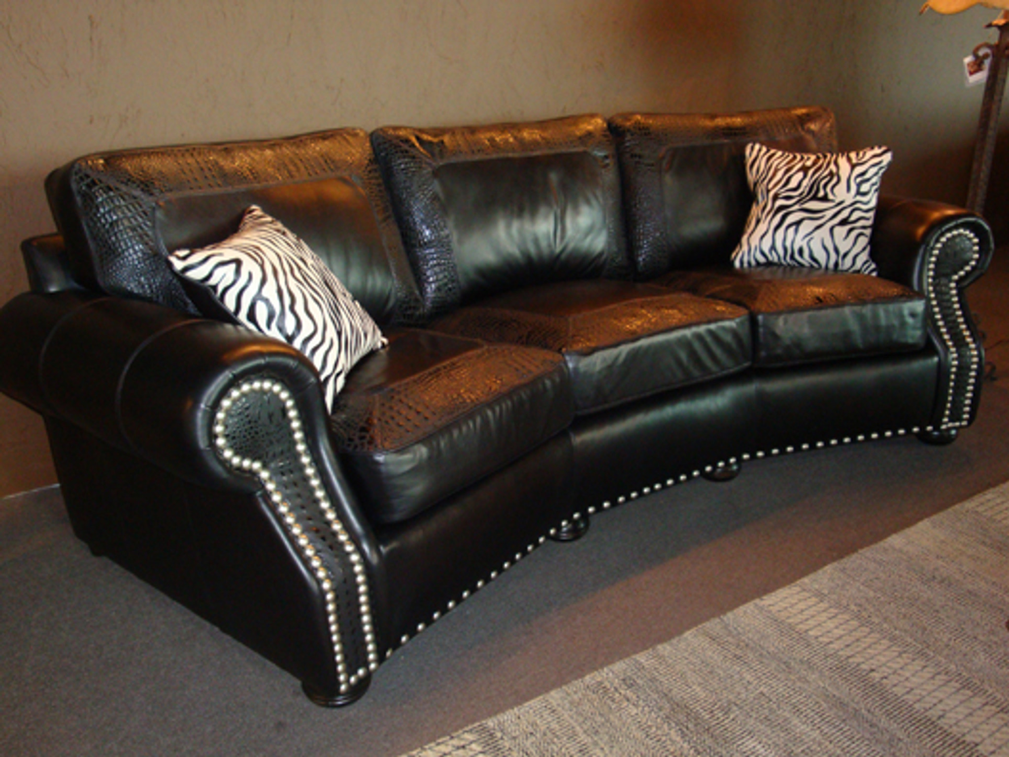 Madison Leather Sofa American Heritage Custom Leather