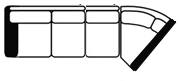 laf sofa wedge line drawing