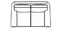 loveseat line drawing