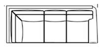 raf corner sofa  line drawing