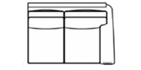 raf loveseat line drawing