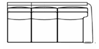 raf sofa line drawing