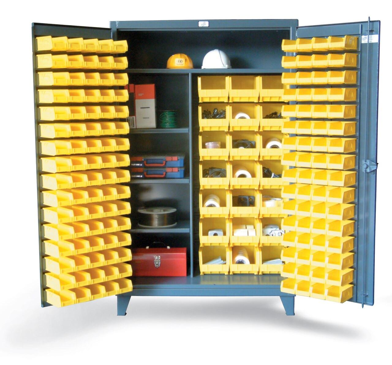 46 Bscw 241 3wlr Bin Storage Cabinet With Half Width Shelves 48