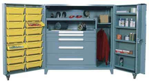 1101 Lyon All Welded Cabinet With Modular Drawers And Tilt Bins