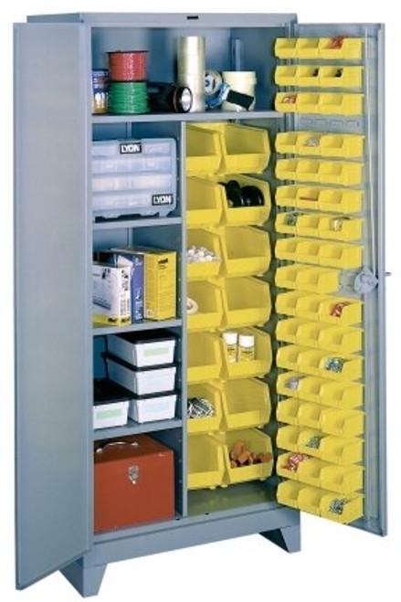 1122 Lyon All Welded Combination Bin Cabinet