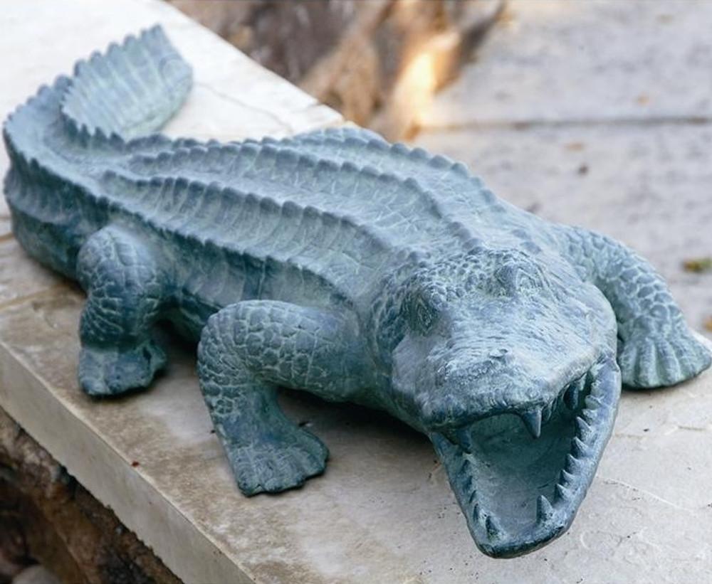Beautiful Mean Old Alligator Garden Sculpture | 30211 | SPI Home ...