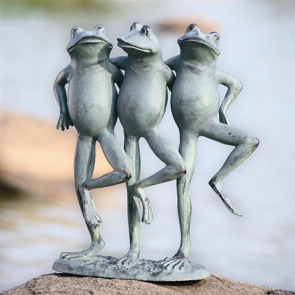 Dancing Frogs Sculpture   33430   SPI Home
