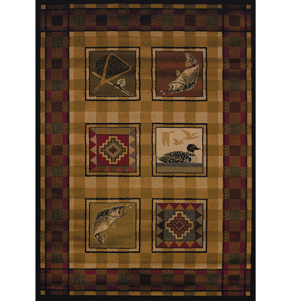 Fish Duck Area Rug