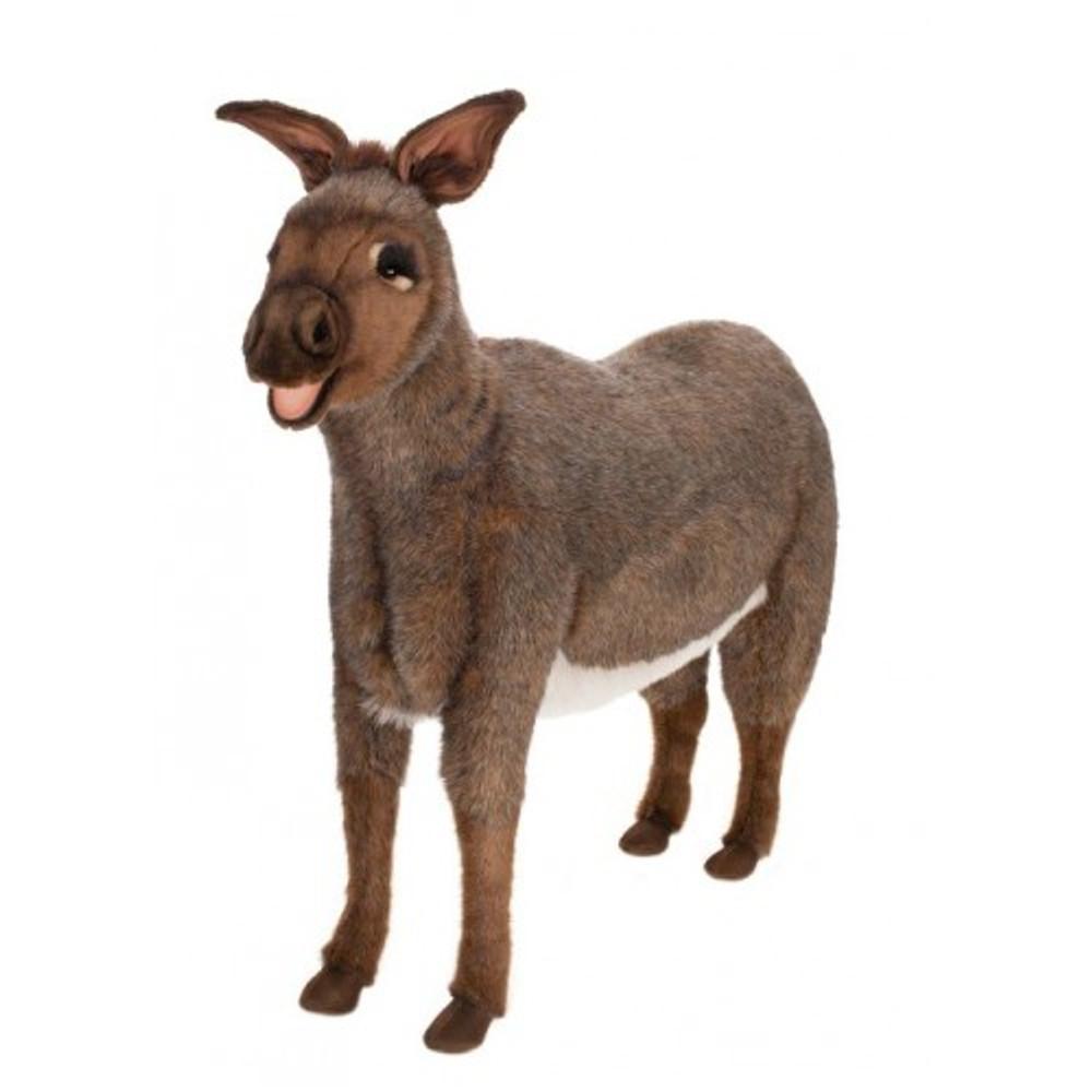 donkey life sized stuffed animal donkey plush hansa toys. Black Bedroom Furniture Sets. Home Design Ideas
