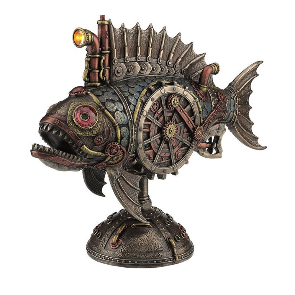 Steampunk Fish Submarine Sculpture Melanocetus Supero