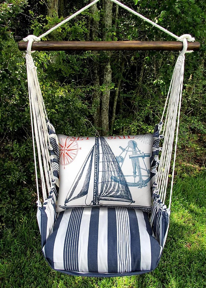 Sailboat Hammock Chair Striped Swing Magnolia Casual