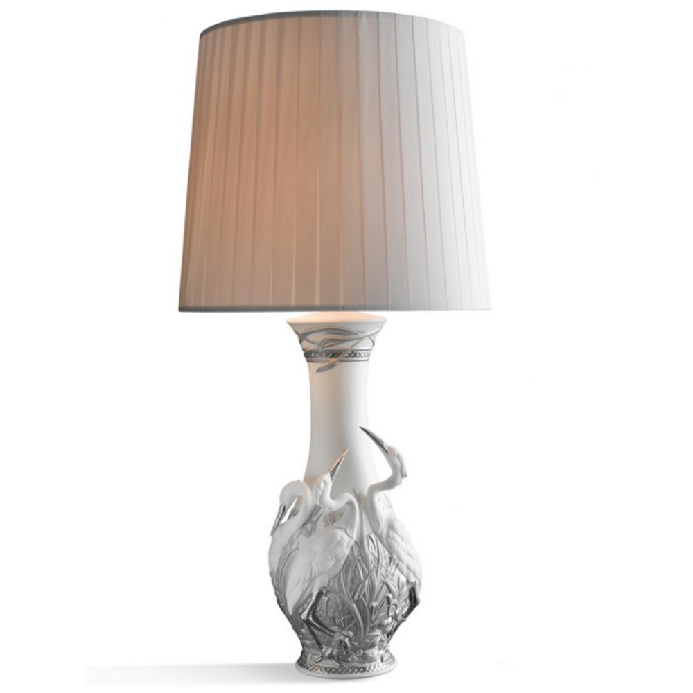 Heron porcelain table lamp lladro herons lamp heron porcelain table lamp lladro 01023118 aloadofball Image collections