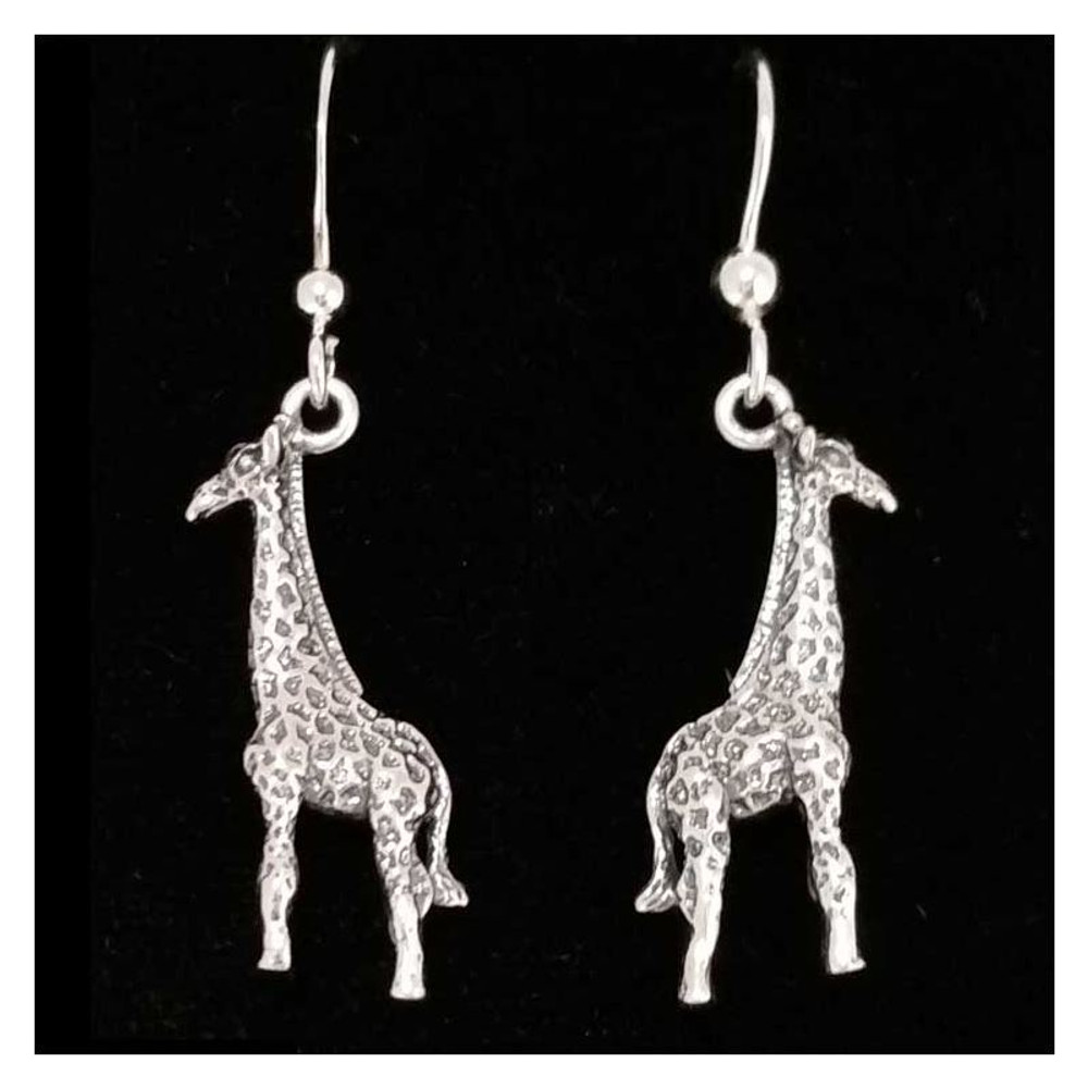Giraffe Wire Earrings | Sterling Silver | Kabana