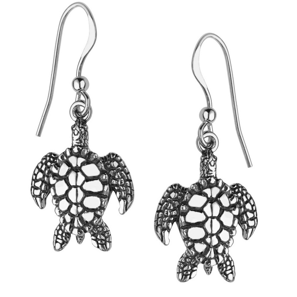 Sea Turtle Earrings Sterling Silver Kabana