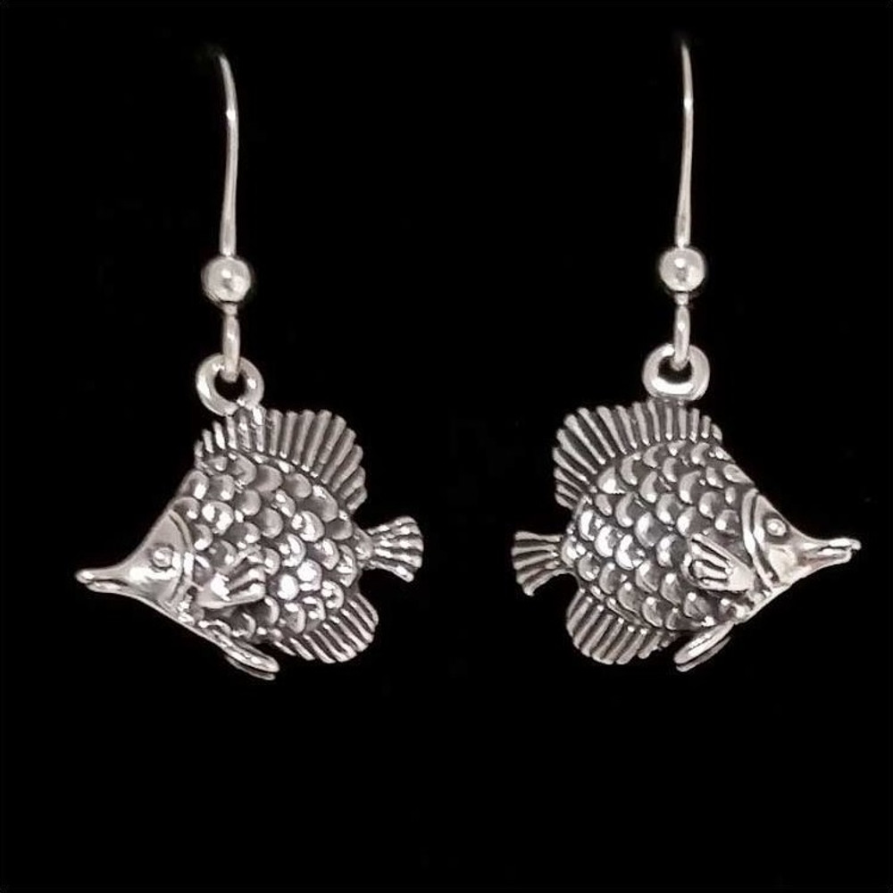 Tropical Fish Earrings | Sterling Silver | Kabana