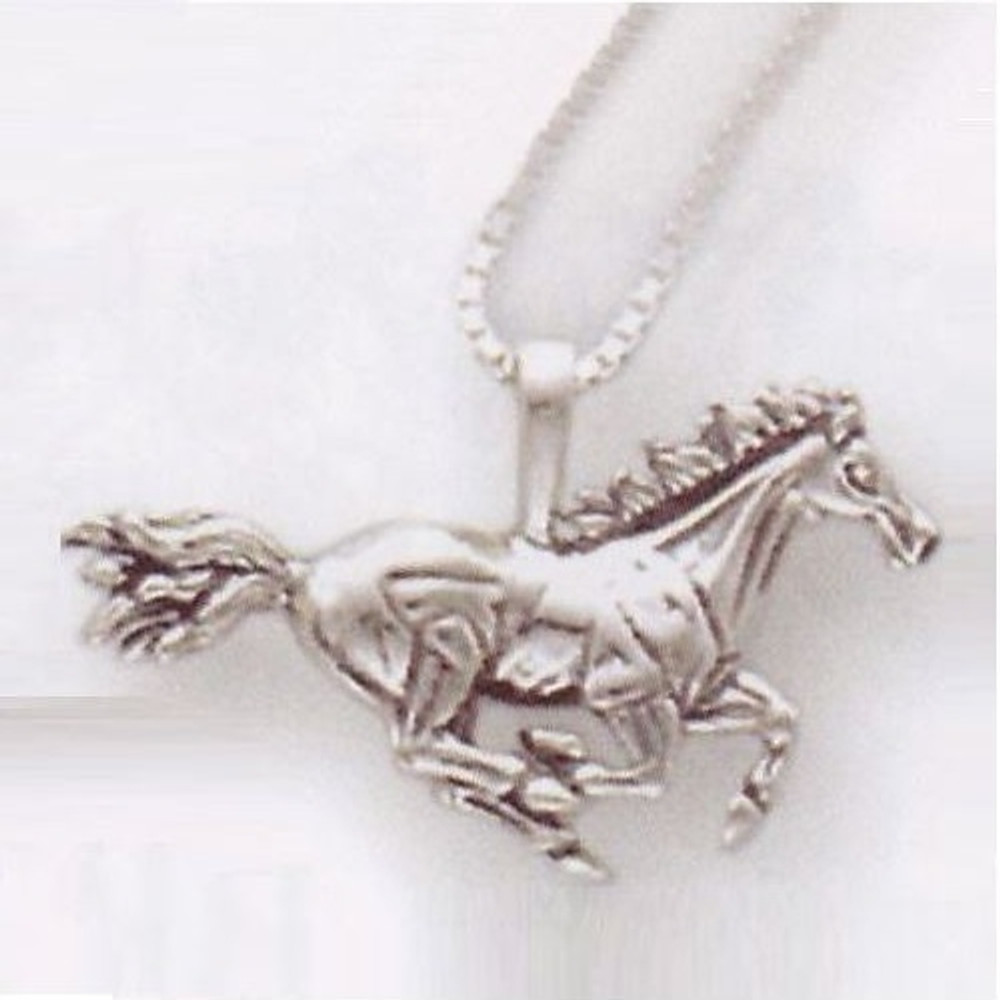 Galloping horse necklace sterling silver kabana galloping horse pendant sterling silver necklace kabana jewelry kp711 aloadofball Images