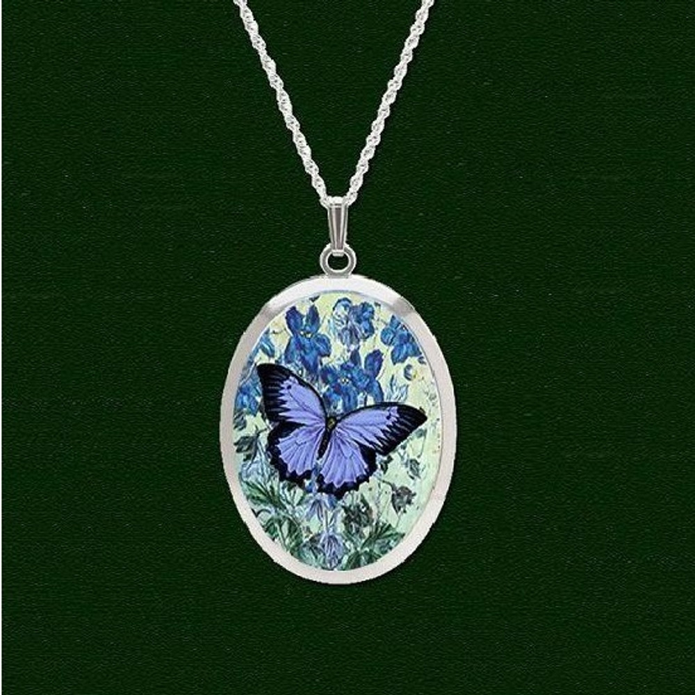 sports blue butterfly amazon com dp faux diamond necklace topstaronline studded pendant outdoors