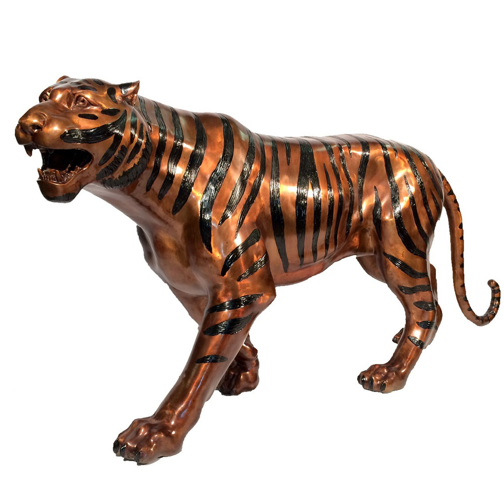 Tiger Sculpture Statue Bronze Decor Furnishing