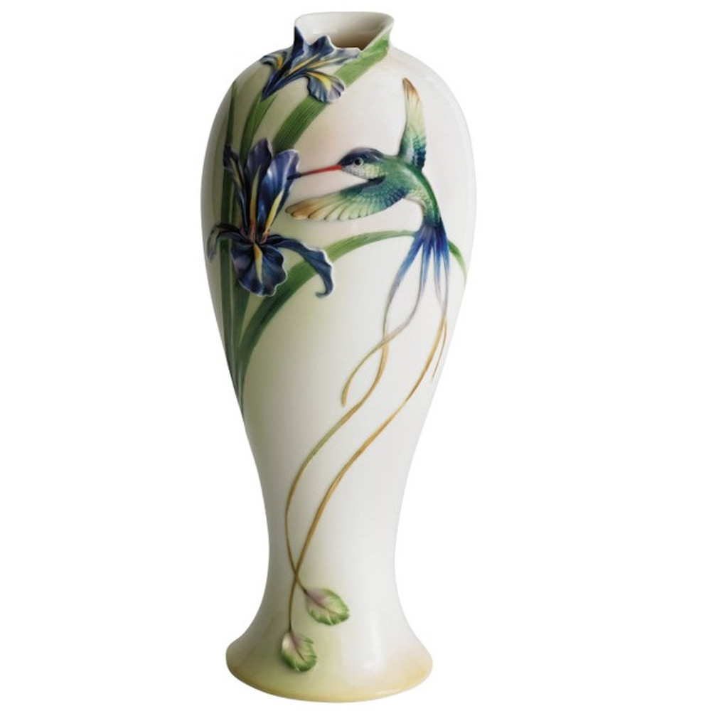Hummingbird Vase Franz Porcelain Decor