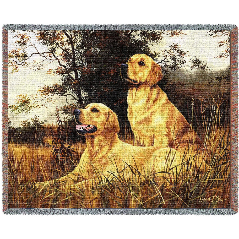 Golden Retriever Blanket Throw Afghan Pure Country