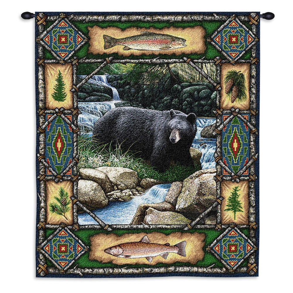 Bear Tapestry Black Bear Lodge Pure Country
