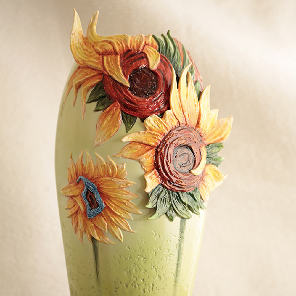 Sunflowers Vase Van Gogh Porcelain Franz Collection