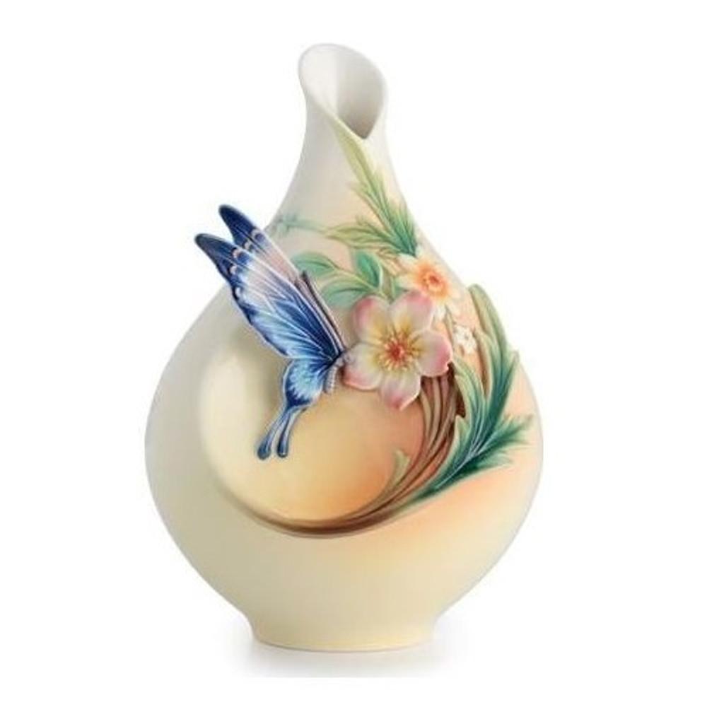 Fluttering Butterfly Vase Franz Collection Porcelain