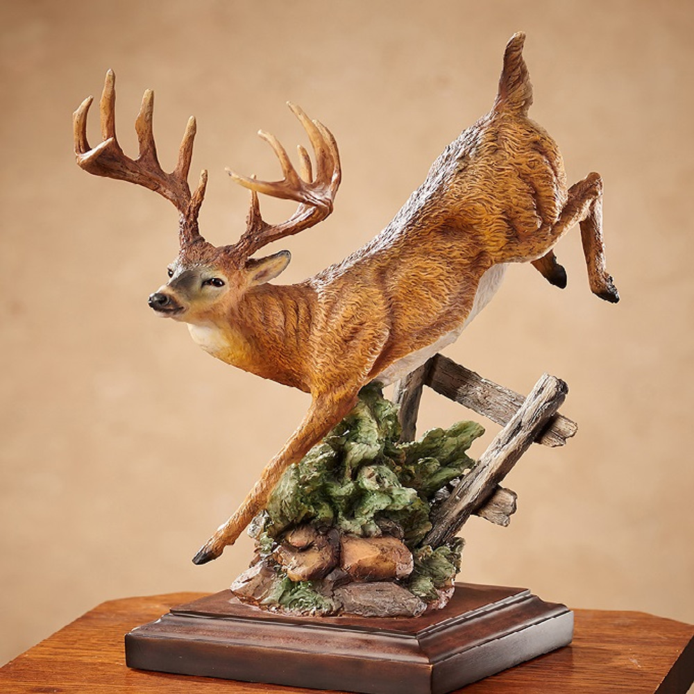Deer Bound For Cover Sculpture Greg Peltzer