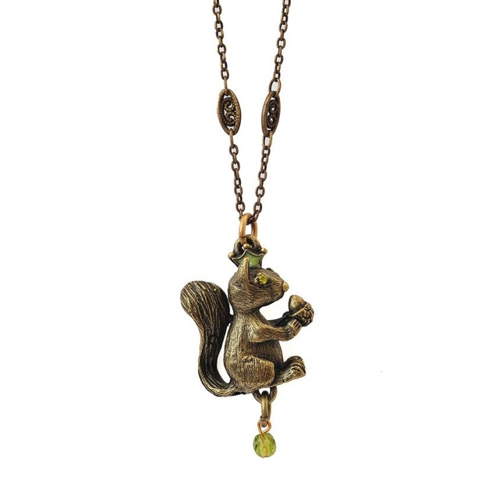 Squirrel pendant necklace nuts about you la contessa squirrel pendant necklace aloadofball Image collections