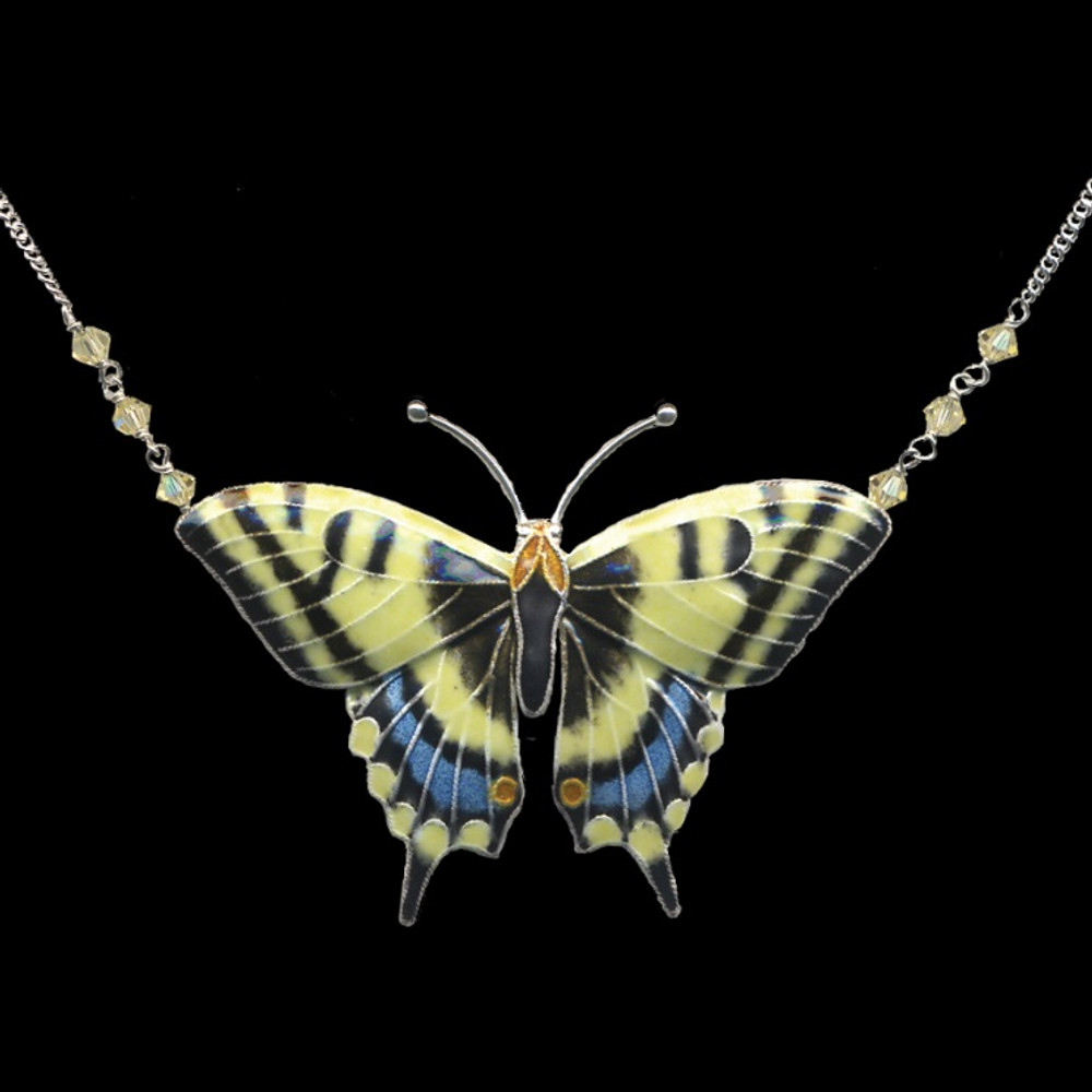 Butterfly Necklace Swallowtail Cloisonne Jewelry