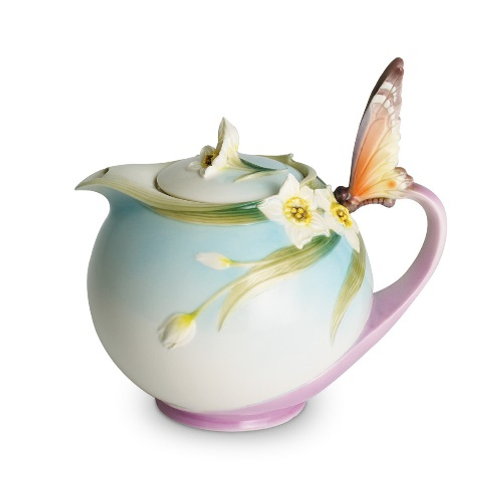 Butterfly Teapot Franz Collection Porcelain