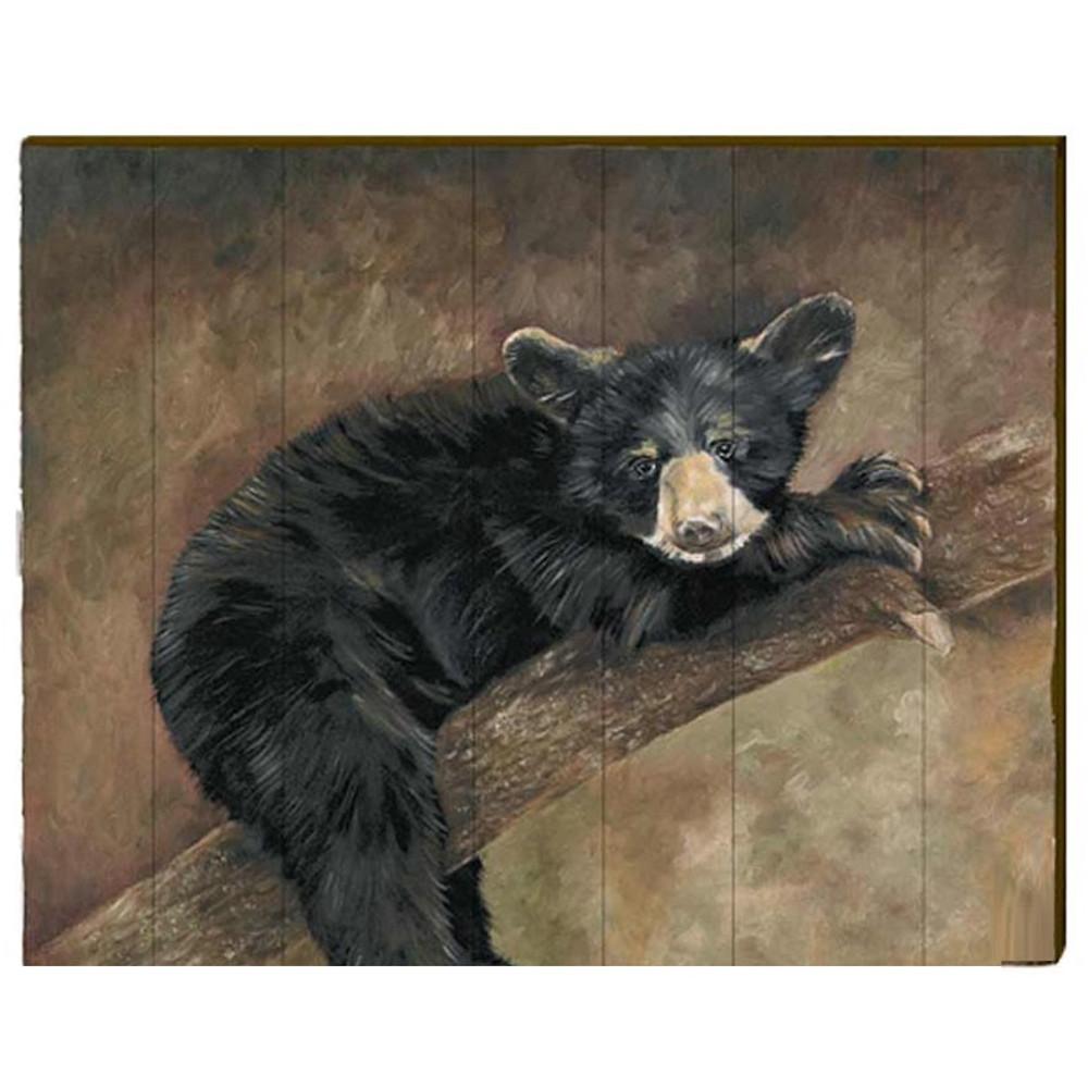 Bear Wood Art Little Yahnee 30x24 Mill Wood Art
