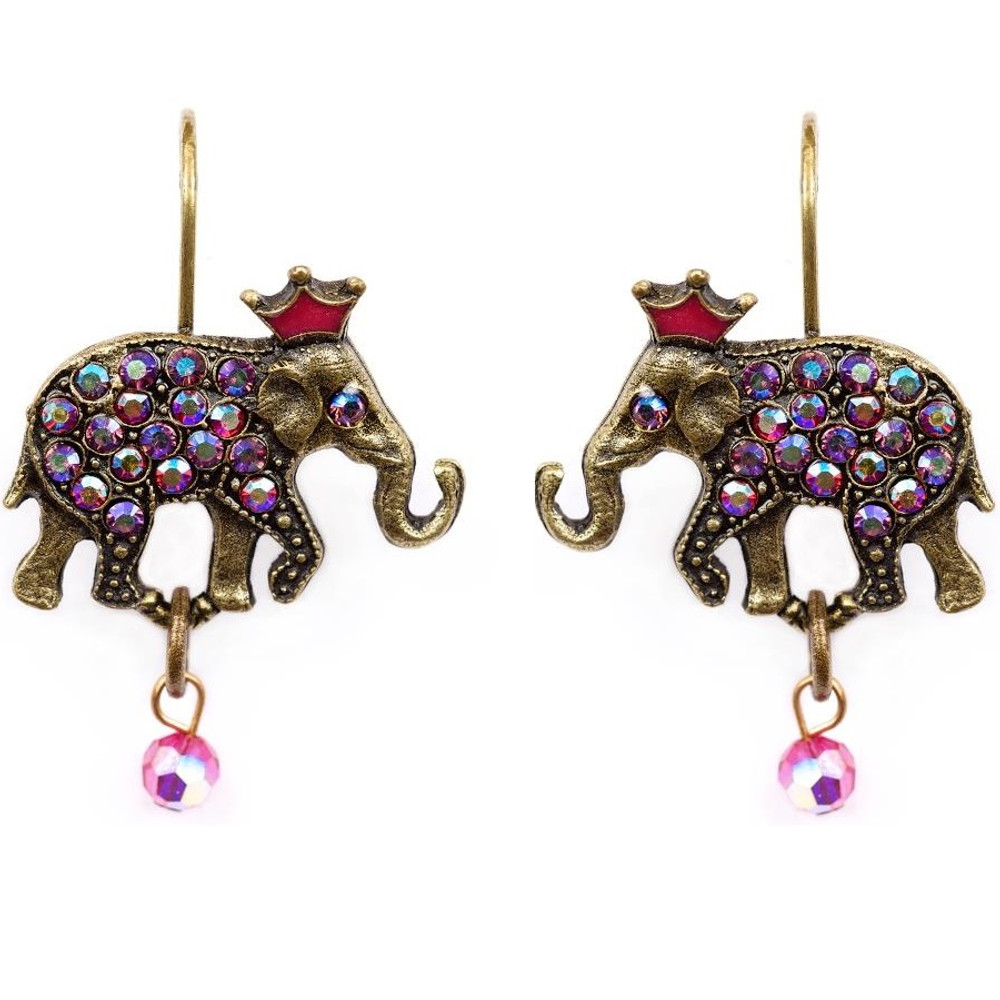 Elephant With Crown Earrings La Contessa Jewelry Mary