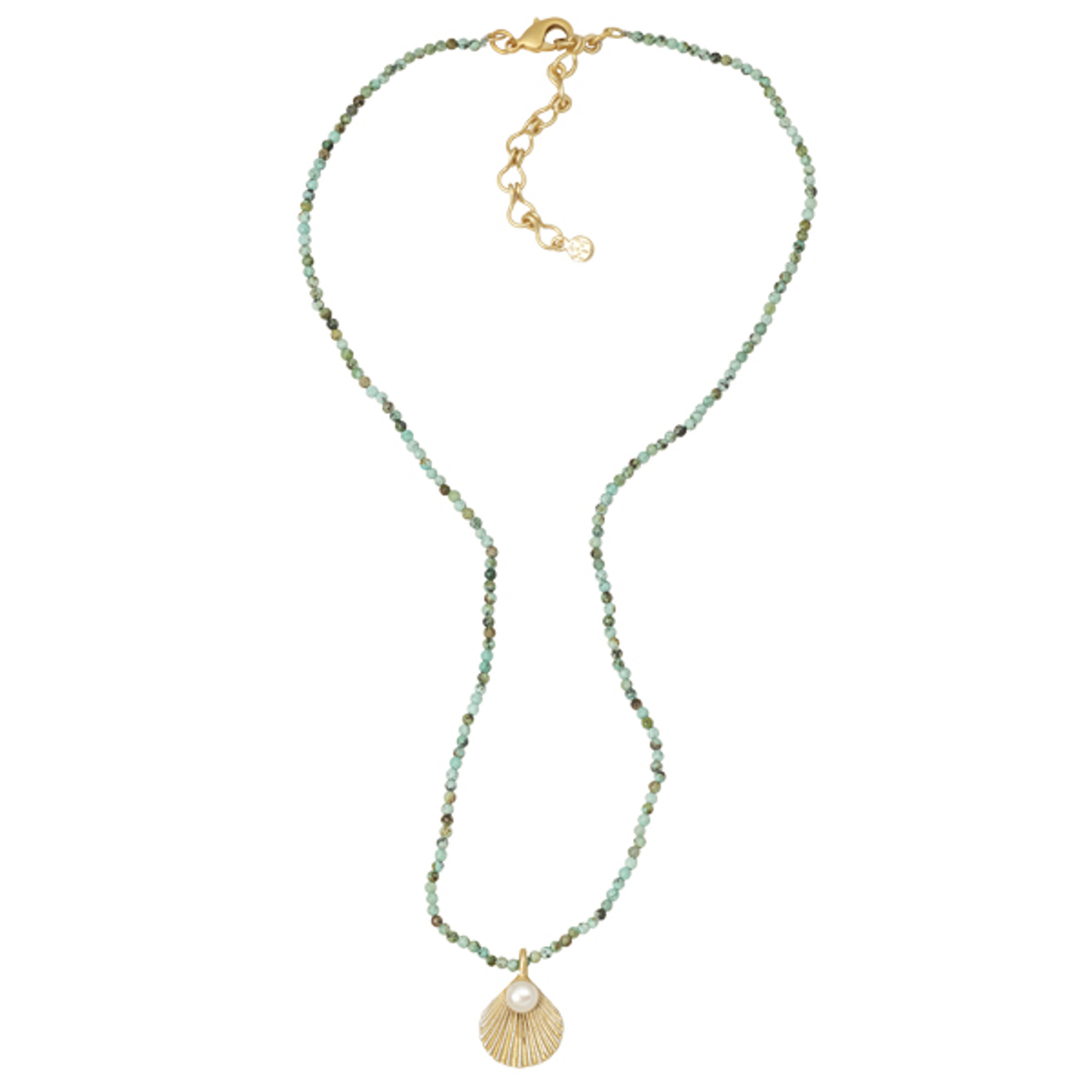 shell freshwater freshwat susan scallop gold genuine handcast necklace pearl shaw plated on products