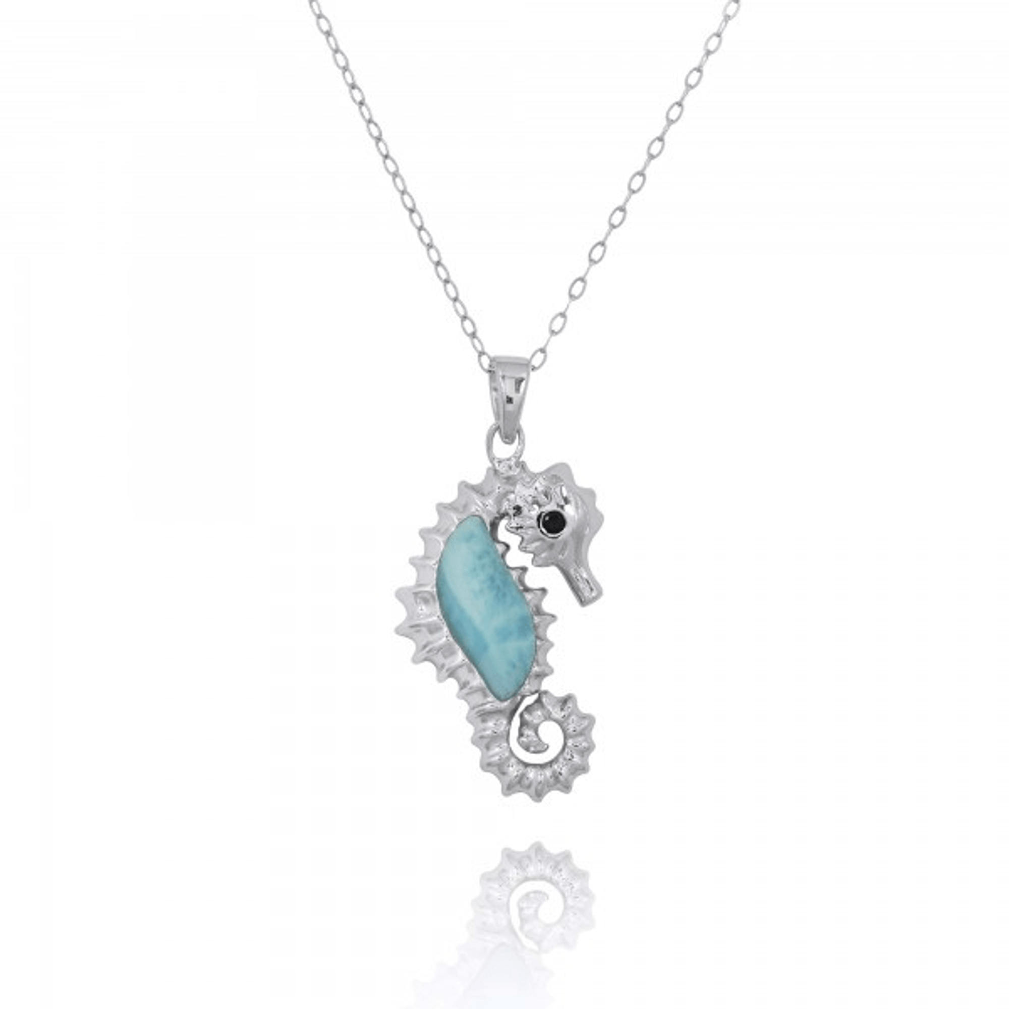 Seahorse sterling silver larimar pendant larimar seahorse necklace seahorse sterling silver larimar pendant necklace beyond silver jewelry np10125 lar 2 aloadofball Image collections