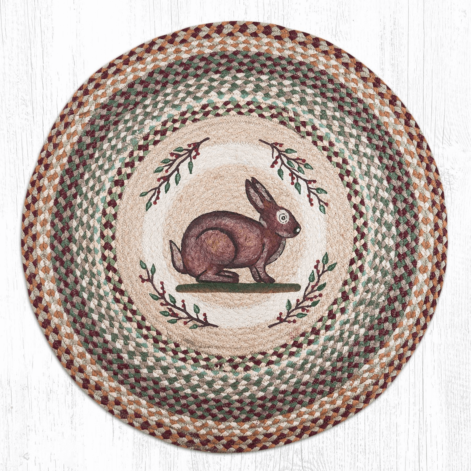 Rabbit Round Braided Rug Rabbit Jute Round Area Rug Capitol