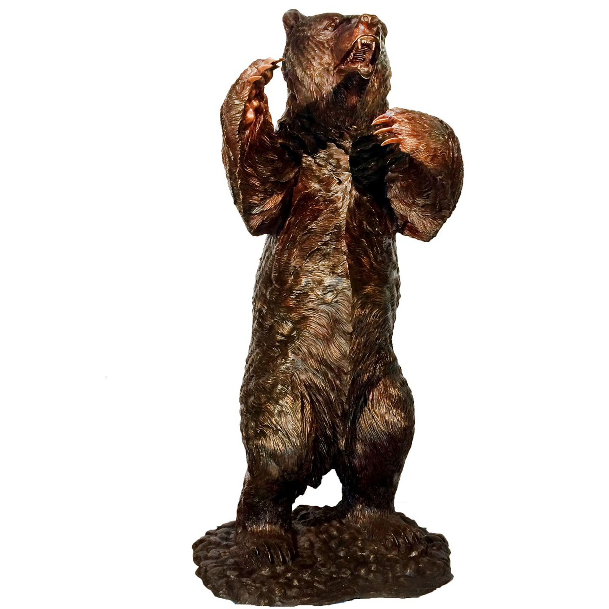 Grizzly Bear Life Size Bronze Outdoor Statue | Metropolitan Galleries |  MGISRB10096 ...