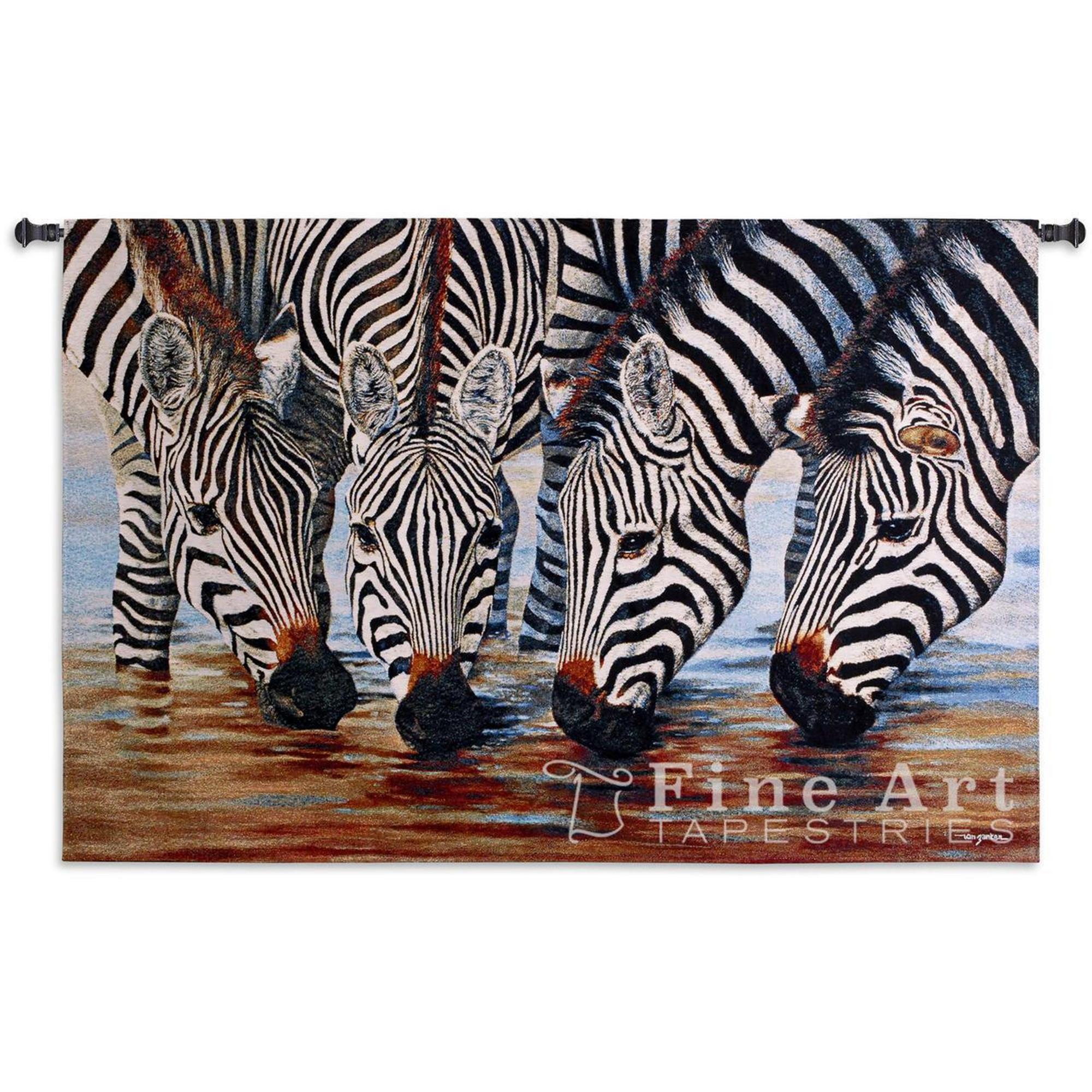 Zebra Tapestry Zebra Stripes Wall Hanging Fine Art Tapestries