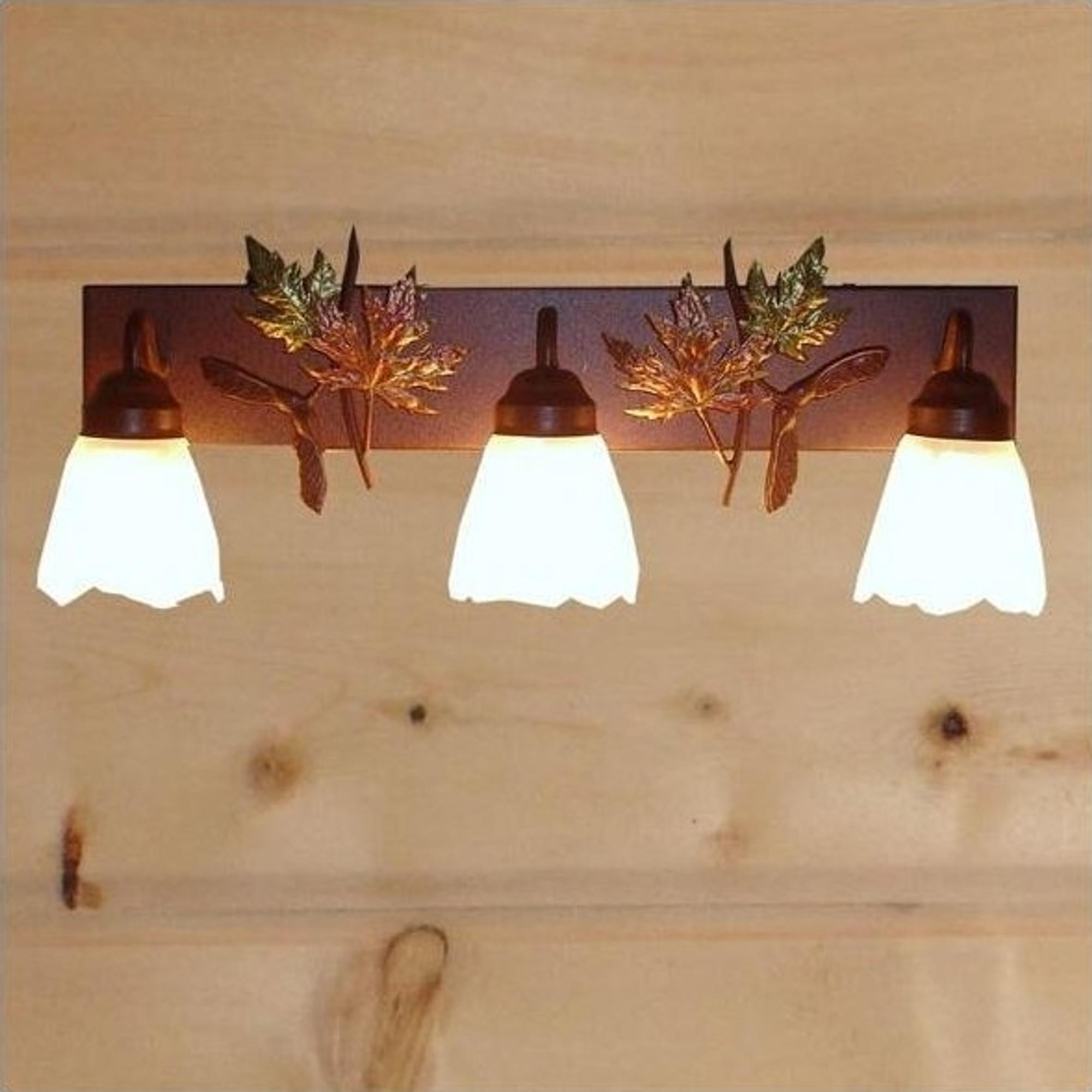 charming Cabin Vanity Light Part - 8: Maple Leaves Vanity Light | Colorado Dallas | CDBL24GS-07FR