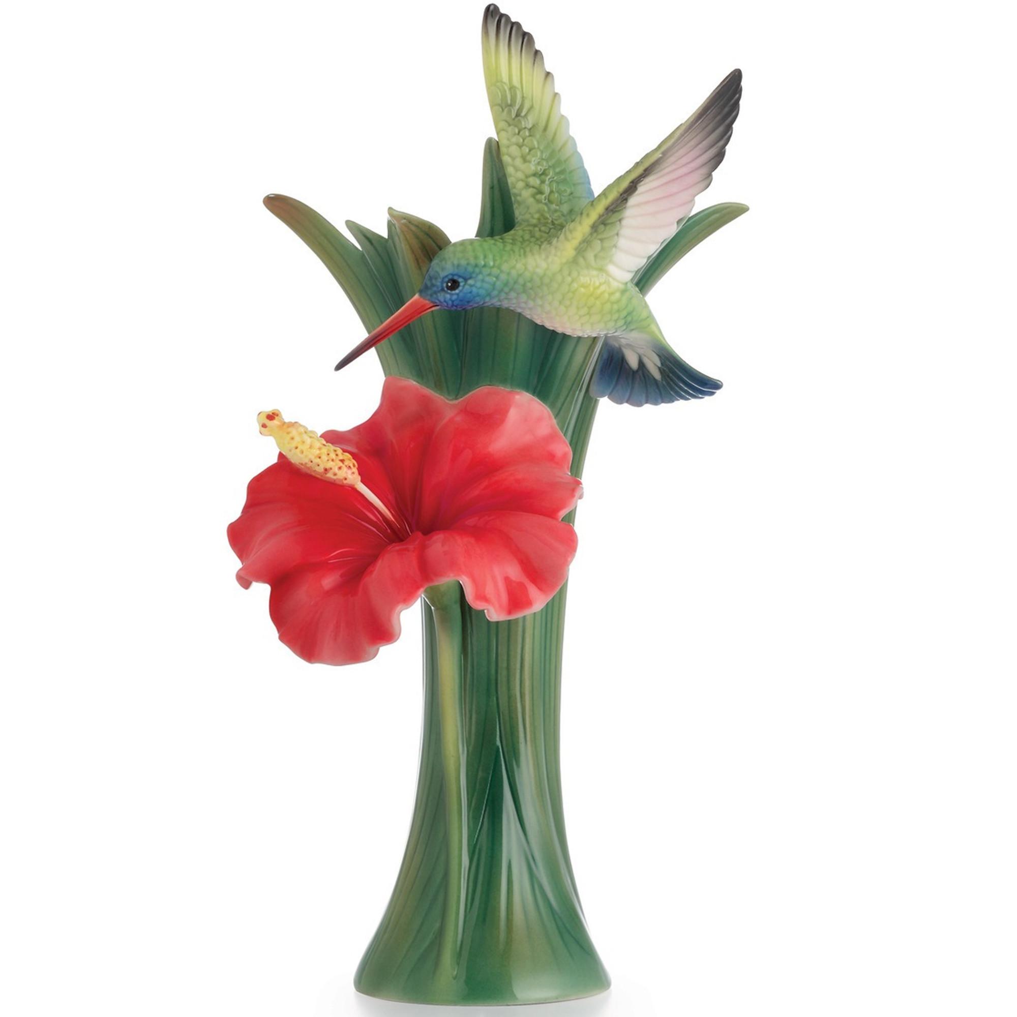 Hummingbird vase hibiscus porcelain franz hummingbird hibiscus vase fz02582 franz porcelain collection reviewsmspy