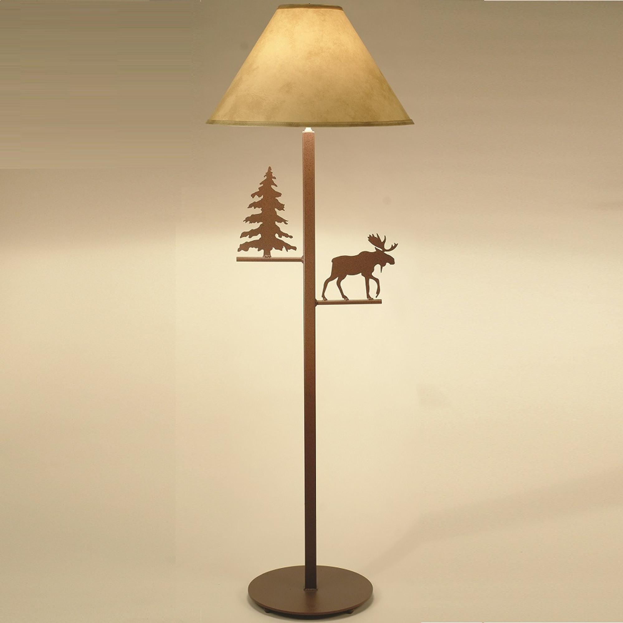 Moose floor lamp pine tree lighting decor furnishing moose pine tree floor lamp colorado dallas cdfl1013sh2158 aloadofball Choice Image