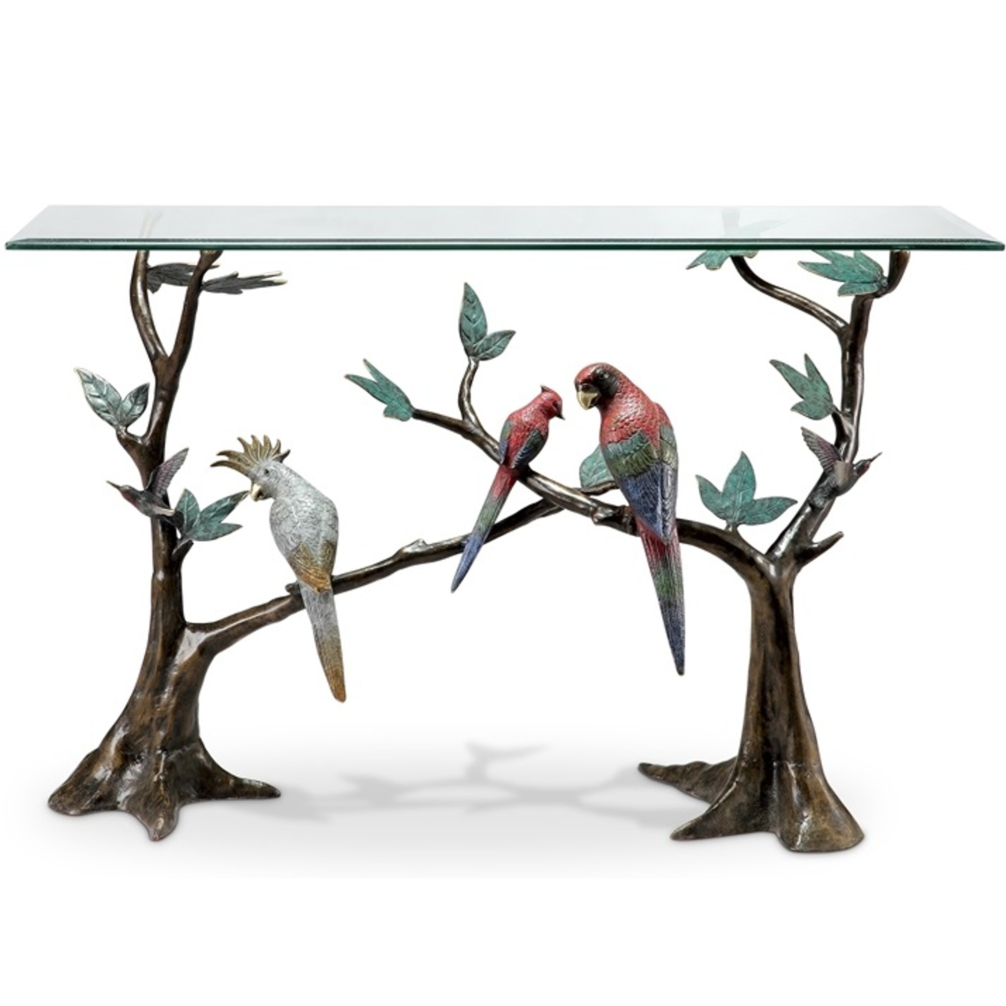 Macaw Tropical Bird Console Table | 80309
