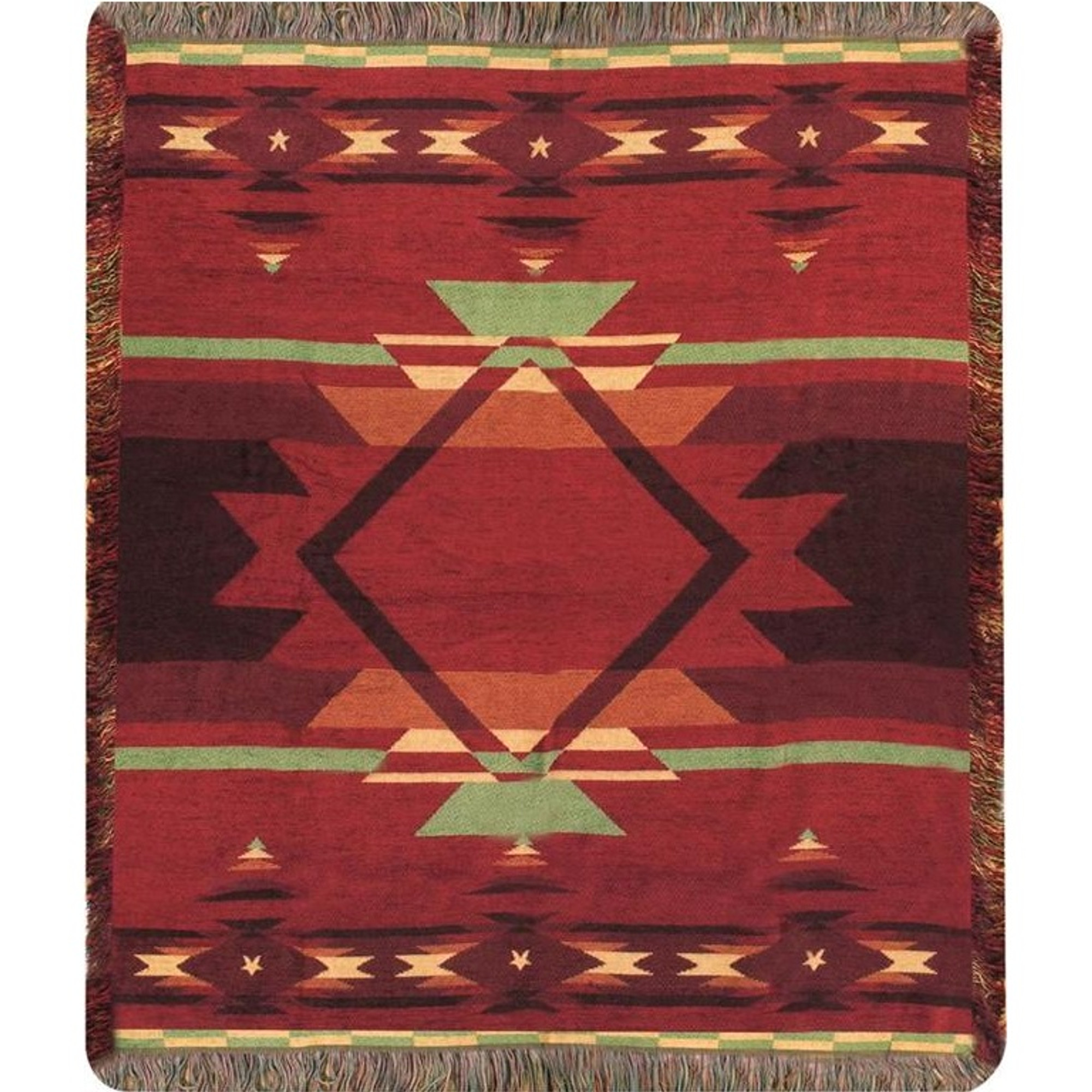 Southwest Flame Tapestry Throw Blanket Manual Woodworkers