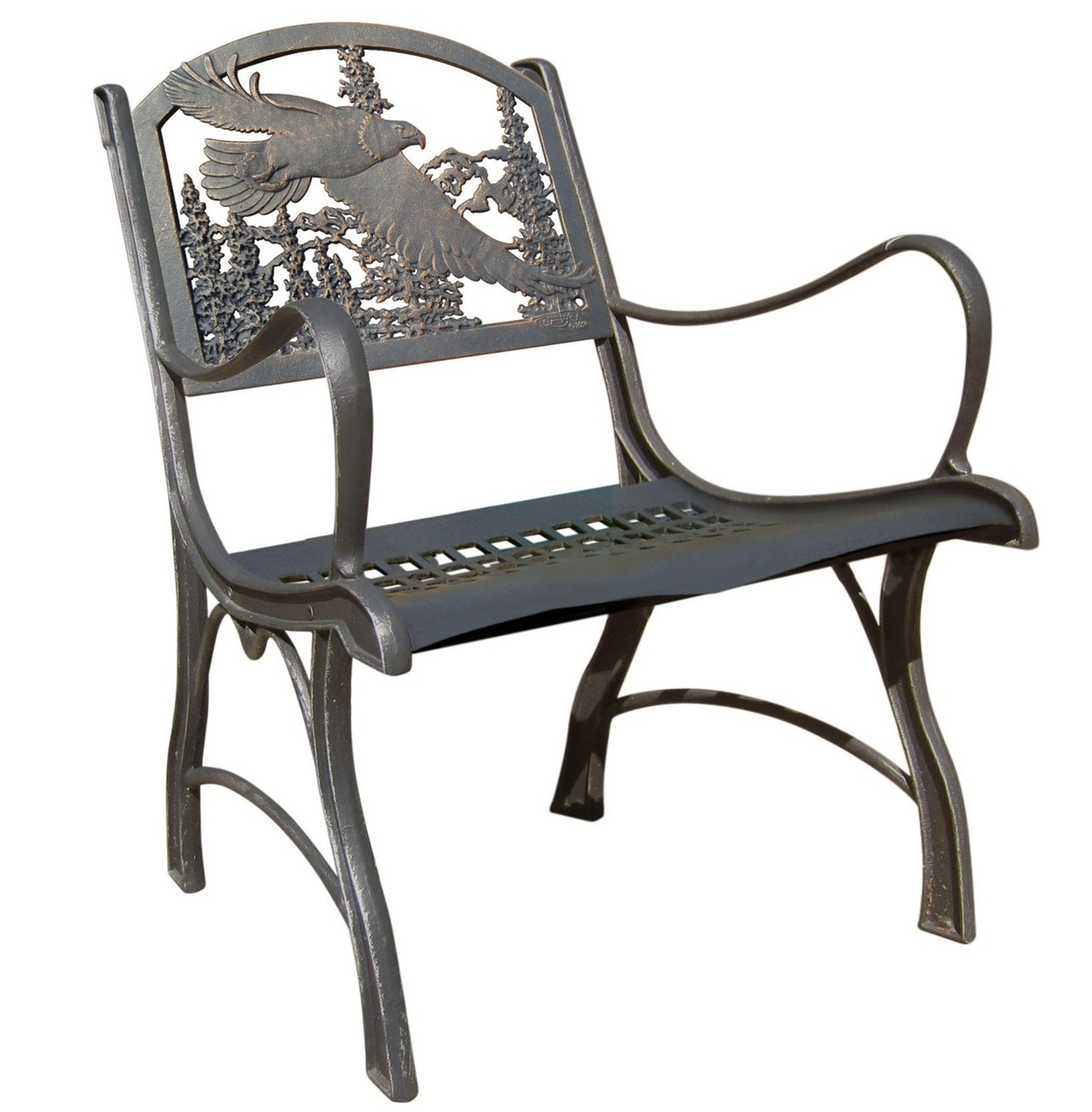 Beautiful Eagle Cast Iron Chair | Painted Sky | PC EAG
